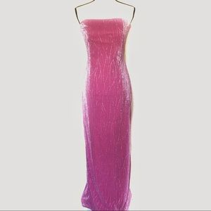 Jessica McClintock Pink Shimmer Strapless Gown